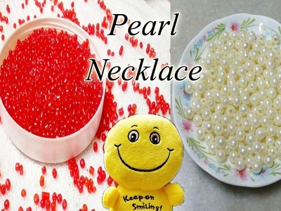 How to make a Pearl Beaded Necklace At Home | Jewellery Making | Diy | DiyArtiePie