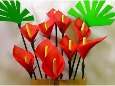 How to make anthurium flower | Easy way to make Anthuriums From Paper