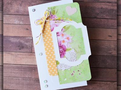 How to make : Birthday Greeting Card for Mom | Kartka Urodzinowa - Mishellka #304 DIY
