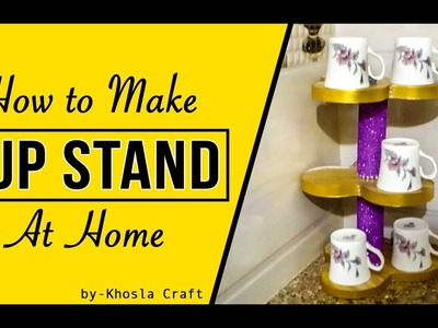 How To Make Cup Stand At Home ||  Khosla Craft