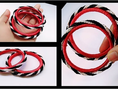 How to make Fancy Silk Thread Bangles.Simple&Beautiful Bangles. !