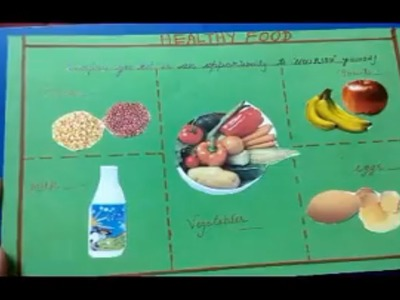 How to make healthy food collage
