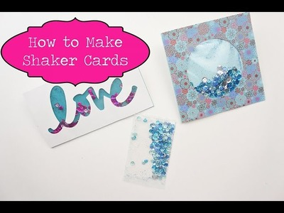 How to Make Shaker Cards with Washi Tape