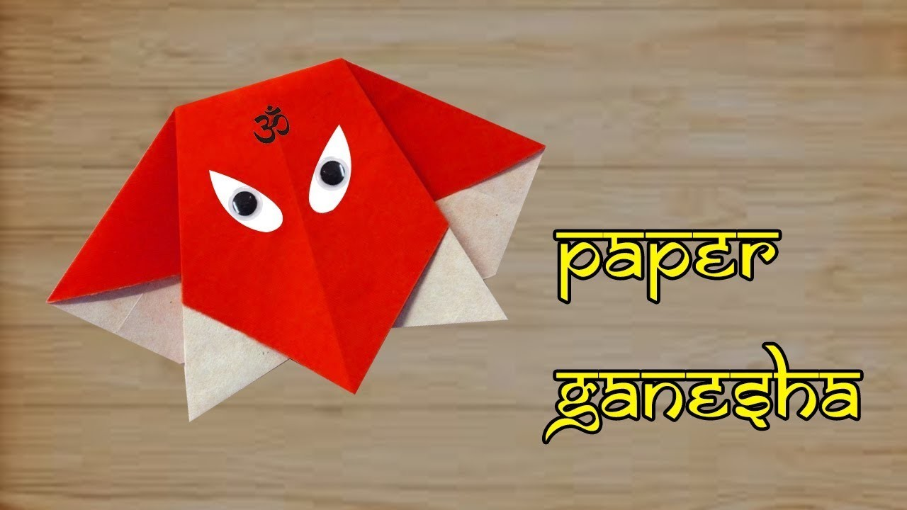 How to make simple & easy paper ganpati. ganesha chaturthi | DIY Paper Craft ,Diwali Craft