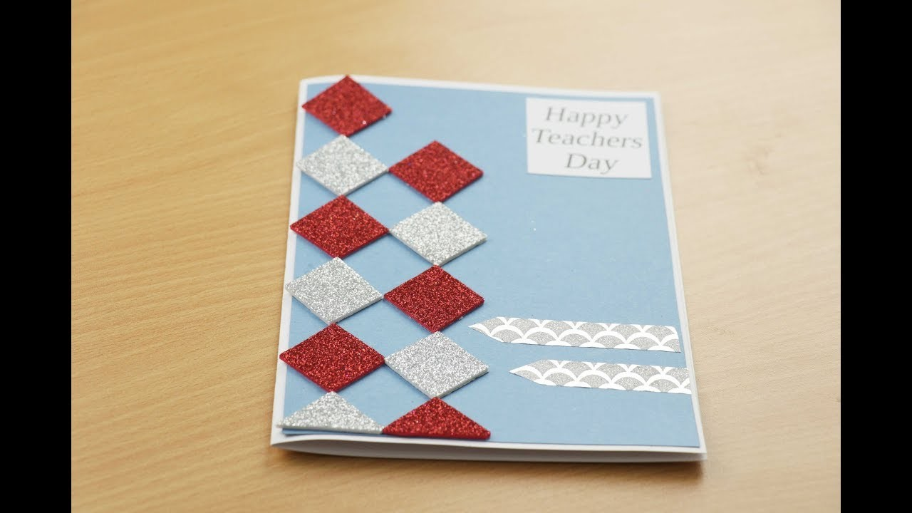 How To Make Simple Greeting Card DIY Fathers Day Teachers Birthday Cards