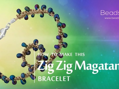 How to make this Zig Zag Magatama bracelet | Seed Bead design