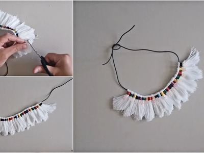 How to make thread Necklace - DIY Jewelry Idea
