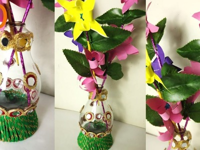 How to make Vase & Flower with Fuse Bulb at Home I DIY Home Decor Idea I Creative Diaries