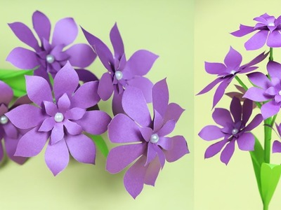 How to Make Very Beautiful Paper Stick Flower   DIY Stick Flower Ideas with Paper