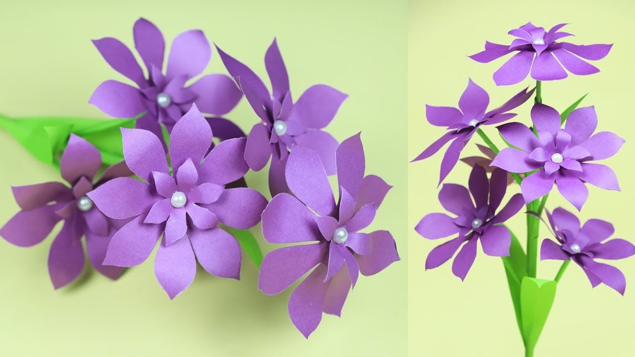How to Make Very Beautiful Paper Stick Flower | DIY Stick Flower Ideas with Paper