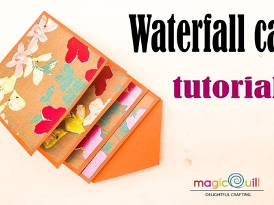 How to make waterfall card | waterfall card for scrapbook tutorial