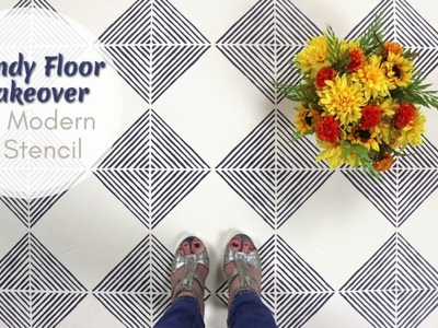 How To Score a Trendy Geometric Floor With an Easy To Use Stencil
