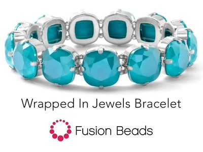 Learn how to create the Wrapped in Jewels Bracelet by Fusion Beads