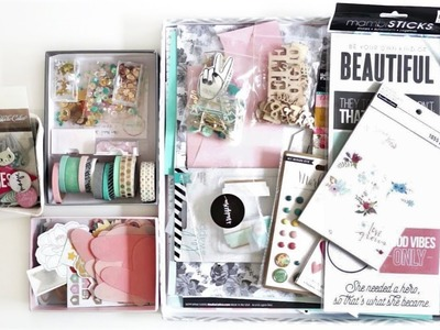 Making My September Scrap My Stash Kit- How to Make Your Own Scrapbook Kit