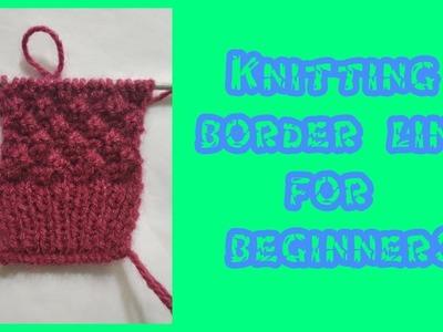 New Border Knitting Design #1 | Knitting Pattern | sweater border