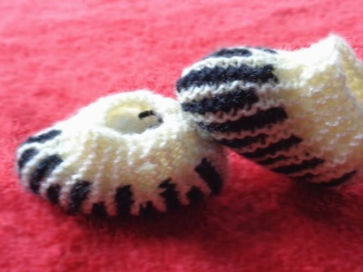 New Born Baby Booties | Knitting Baby Booties |