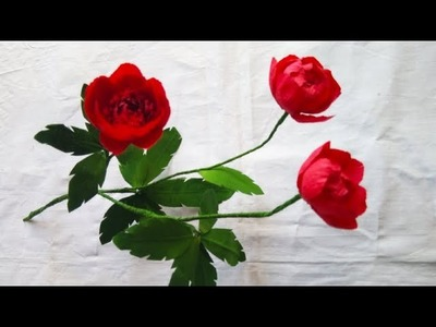 Paper Flowers Pro Diy | How to make artificial peony flowers with crepe paper | flowers making