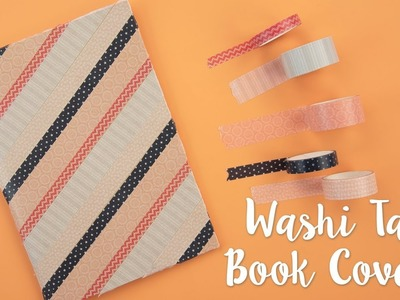Sizzix Lifestyle - How to Decorate Book with Washi Tape (Back to School)