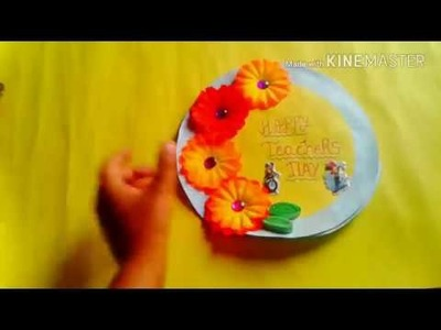 Teachers day card || how to make greeting cards at home easy for teachers day || simple and easy