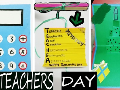 3 DIY Teachers Day Cards-Handmade Teachers Day Card Making Ideas | How To Make Teachers Day Cards