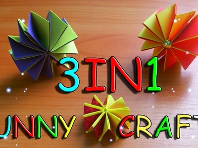 3 Easy Paper Crafts In 1 Video. Toy, Christmas Tree, Room Decorations