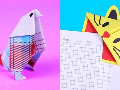 4 EASY TO MAKE ORIGAMI PAPER DIYS | CRAFTS WITH PAPER