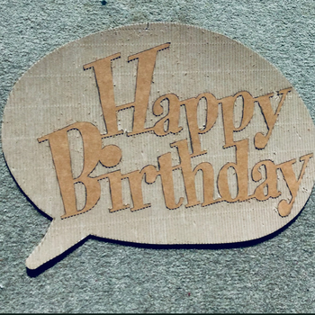 Relief Picture Art, Cardboard, Happy birthday card, Special, Unique, Speech Bubble