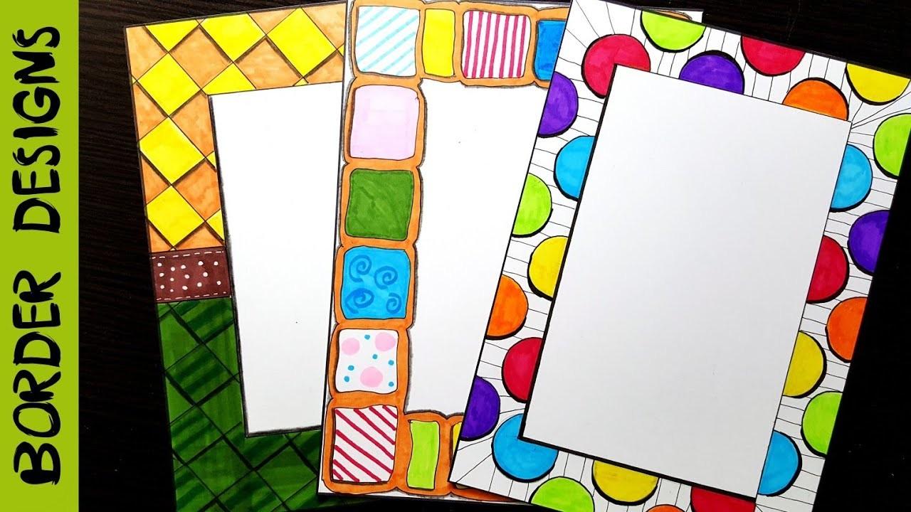 Colors, Border designs on paper, border designs, project ...