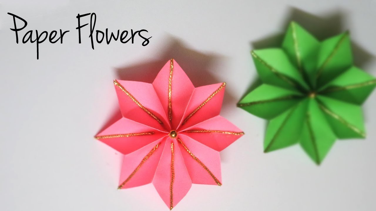 Decorative Paper Flowers | Easy Paper Crafts | Flower Making Tutorial