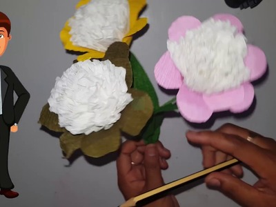 DIY BEAUTIFUL FLOWER PAPER , HOW TO MAKE FLOWER PAPER , FLOWER SO CUTE