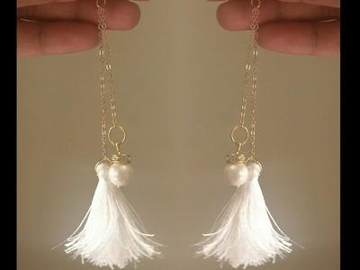 DIY earrings.tassel earrings.jewellery making.simple and easy earring