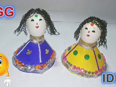 DIY EGGSHELL CRAFTS | TRADITIONAL DOLL IDEAS | AWESOME PAPER CRAFTS