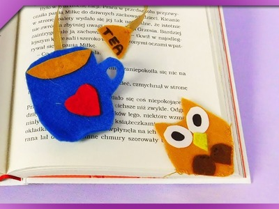DIY How to make unusual bookmarks, owl, cup (ENG Subtitles) - Speed up #515