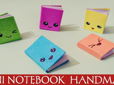 DIY MINI NOTEBOOKS  WITH COLOUR PAPER - NOTEBOOKS WITH ONE SHEET OF PAPER