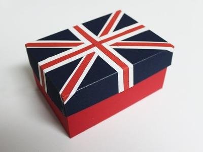 DIY Paper Box - Homemade Gift Box - British Flag Box