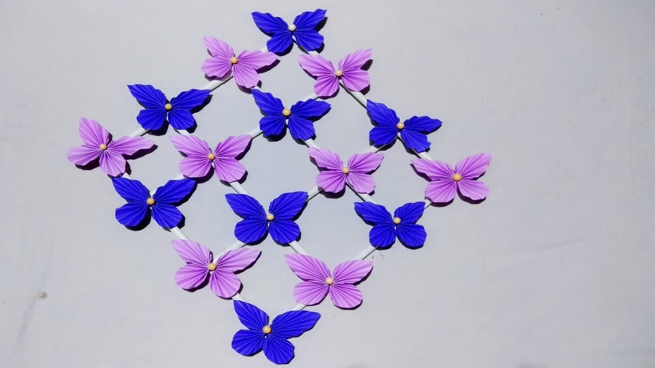 Diy Paper Butterfly Wall Hanging Diy Art And Craft Ideas Wall