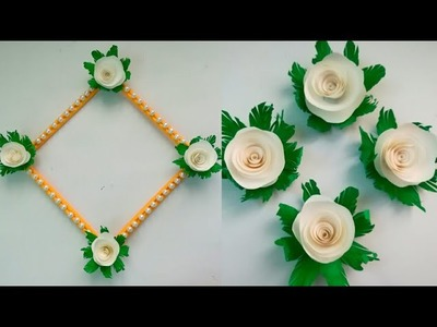 Diy paper flower wall hanging.Simple and beautiful wall hanging.Wall decoration by KovaiCraft #51