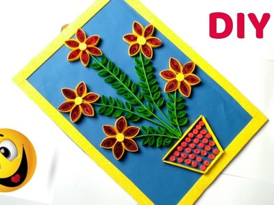 DIY Paper Quilling Flowers wall Hanging.DIY wall decor ideas ,paper wall hanging .
