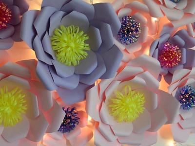 DIY Paper Rose Flower | How To Make Diy Rose Tutorial (Large Size Paper Rose) | Baby Shower Decor