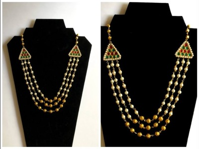 DIY Pearl Necklace | Designer Necklace at home | Easy Home Crafts | Jewelry Making |