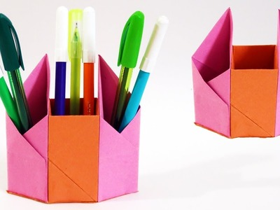 DIY Pen Stand | How to make a Pen Stand | Pen.Pencil Stand with Paper | Easy | Tutorial