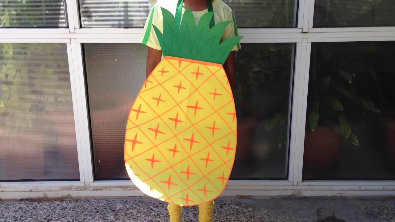 ???? DIY Pineapple costume from paper | Super easy | Fun for kids ????