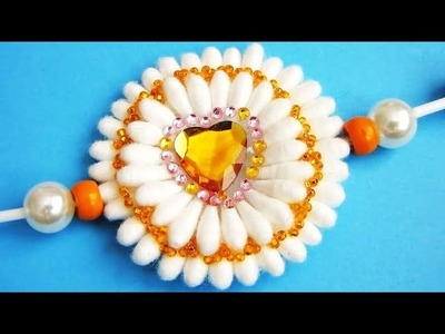 DIY rakhi | rakhi with earbuds | how to make rakhi with earbuds | best out of waste