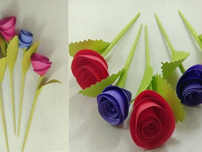 DIY Wall Decoration Door - Origami Easy Paper Flowers - Wall Hanging Paper Flower Rose - Craft Ideas
