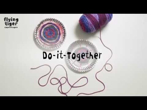 Do-It-Together Paper plate weaving