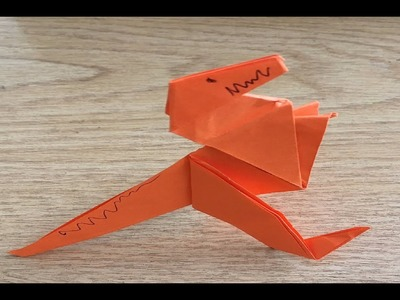 Easy Origami Paper Dinosaur T-Rex in 4 minutes