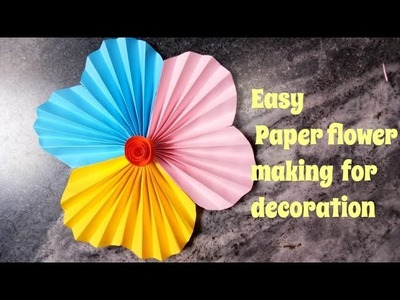 Easy Paper flower making at home for decoration