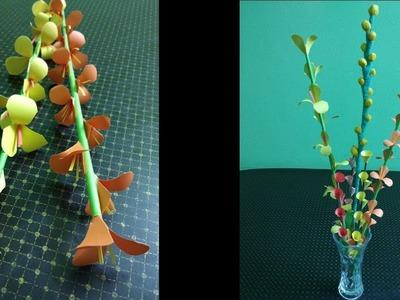 Easy Paper Flower Making. DIY Paper Crafts