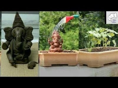 Eco friendly Plant ganesha making (part -1). how to make plant vinayaka. vinayaka chavithi 2018