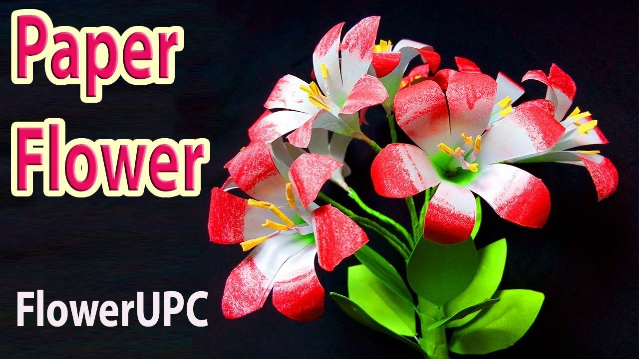 FlowerUPC | how to make paper flowers | Easy origami flowers for beginners making